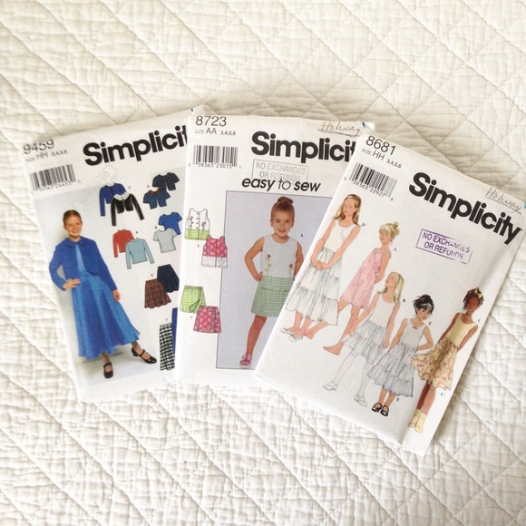 Bundle of Girl's Sewing Patterns (Size 3-6)